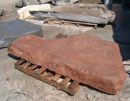 Rochas artificiais feitas com GFRC parecem reais com uma fração do peso original.