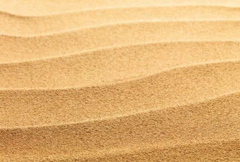 Areia na trilha do Desaparecimento