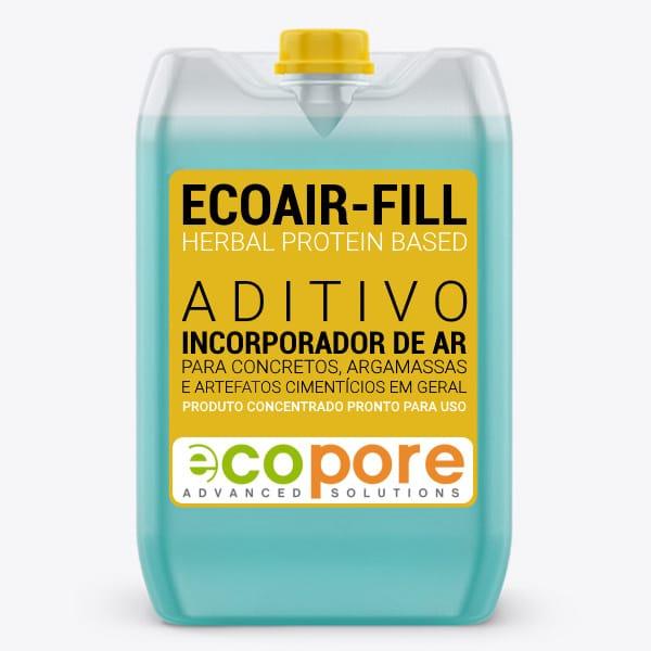 ECOAIR·FILL - Aditivo Incorporador de Ar para Concretos e Argamassas.